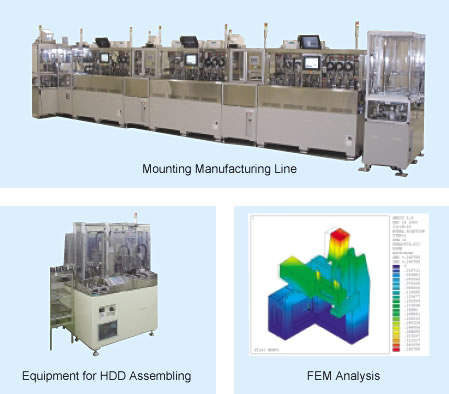 Simulation and production line design allows early start-up of mass production. (Courtesy Toshiba)