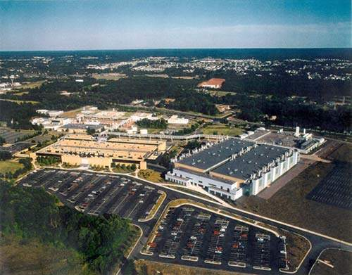 Aerial photograph of Micron's Manassas site.
