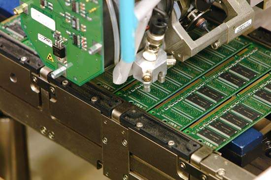 The heads inside Pick and Place machines pick components out of feeders using vacuum nozzles, placing them on printed circuit boards.