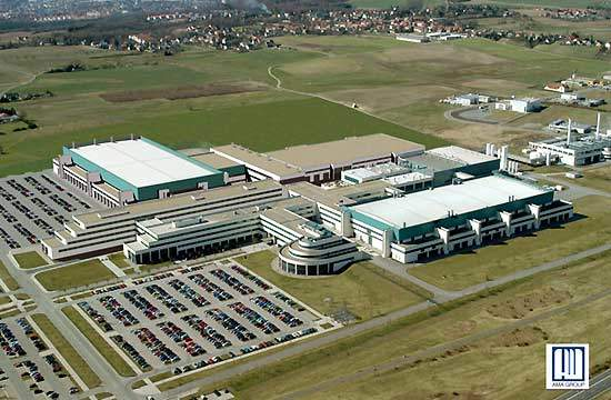 East view of AMD's future 300mm fab in Dresden.