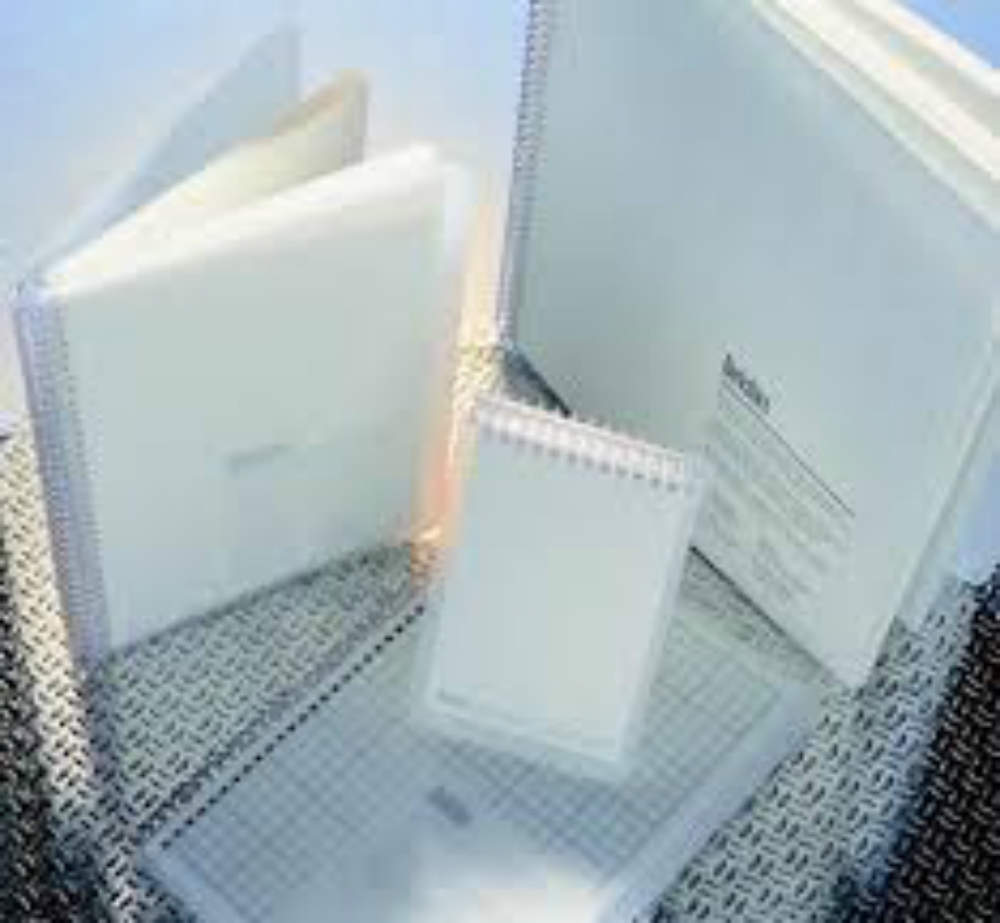 A selection of notebooks, manufactured with high-quality cellulose from selected forests.