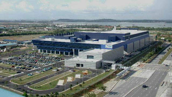 View of the SSMC semiconductor facility in Singapore.